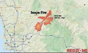 Wildfire Near Julian Ca by This Week In 1956 Inaja Fire Tragedy Redzone