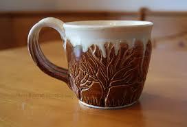 Tree Mug Ceramic Tree Themed Mug By Pixelboundstudios On