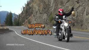 motorcycle rider halloween costume biker with zombie head on a hook motorcycle ride youtube