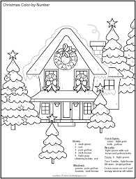 coloring pages free printable christmas color number color