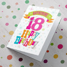 personalised 18th birthday card floral from 99p