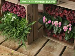 living wall planter from re purposed wine crates diy projects
