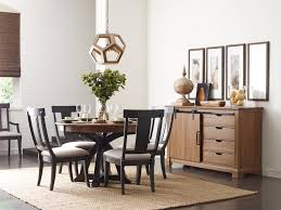 Stone Dining Room Table Kincaid Furniture Stone Ridge Transitional Rustic Round Dining