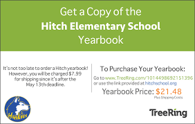 buy yearbook new announcements hitch elementary school
