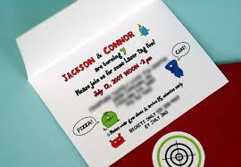 lazer tag invitations free printable invitation design