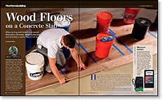 master carpenter wood floors on a concrete slab homebuilding