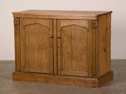 Pine Cabinet Antique Irish Gothic Revival Oak And Pine Buffet Cabinet Circa
