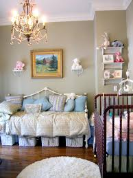 interior nursery ideas combined with pink wall and jungle