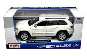 jeep cars white amazon com new 1 24 w b special edition white jeep grand cherokee