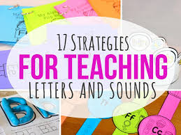 strategies for teaching letters and sounds