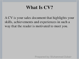 What Is Cv Resume How To Write A Successful Resume By Muhammad Zubair