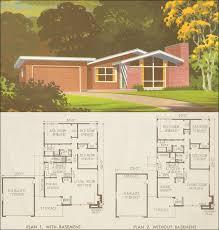 1950s ranch house plans 1954 national plan service plan 7318 modern california ranch style