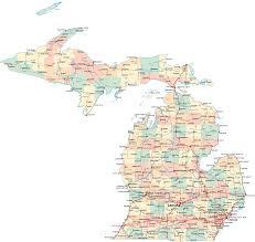 Michigan On Map Michigan Road Map Mi Road Map Michigan Highway Map