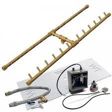 Fire Pit Burner Kits by Crossfire 24v Electronic Spark Ignition H Style Brass Gas Fire Pit