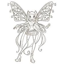 10 free printable winx club coloring pages