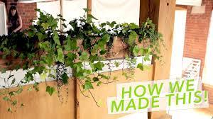 Balcony Planter Box by Diy Balcony Planter Box Youtube