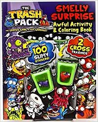 trash pack smelly surprise awful activity u0026 coloring book