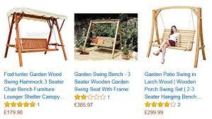 hammock bench garden swing seats uk mix of 10 wooden metal cheap and premium