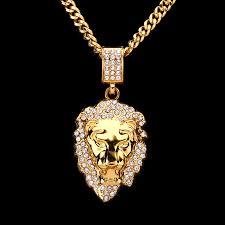 aliexpress buy nyuk mens 39 hip hop jewelry iced out aliexpress buy nyuk rhinestone lion king pendant necklace