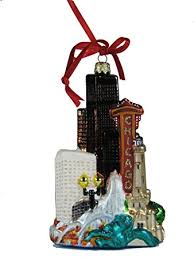 kurt adler chicago glass cityscape ornament