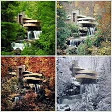 fallingwater house in four seasons architecture pinterest