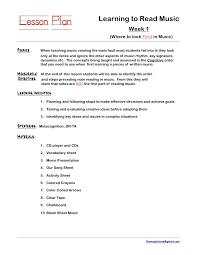 music lesson plan template preschool lesson plan template