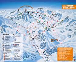 Map Austria Trail Map Stubai Glacier Stubaier Gletscher