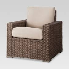 Patio Club Chair Heatherstone Wicker Patio Club Chair Threshold Target
