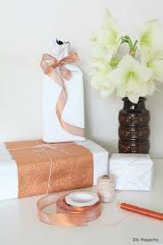 wrapping gifts in copper and white u2013 30s magazine