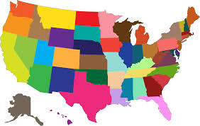Old United States Map by Clipart Multicolored United States Map