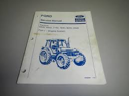 ford nh 5640 6640 7740 7840 8240 8340 tractor engine service