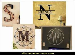 Monogram Letters Home Decor Decorating Theme Bedrooms Maries Manor Personalized Decor