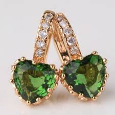 heart shaped emerald necklace images 18k gold plated heart shaped emerald earrings png