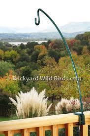deck bird feeder poles at backyard wild birds