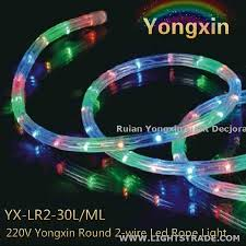 multi color 2 wire led rope light home car decor