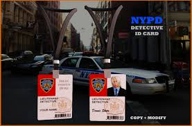 Nypd Business Cards Second Life Marketplace Nypd Id Card Antipush Nypd And Fbi
