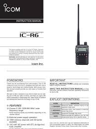 icom ic r6 manual en battery charger battery electricity