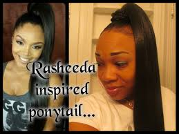 rashidas hip hop curly hair quickie rasheeda inspired ponytail hair tutorial youtube