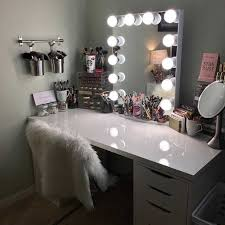 Bedroom Makeup Vanity With Lights Charming Makeup Vanities For Bedrooms With Lights And Bedroom