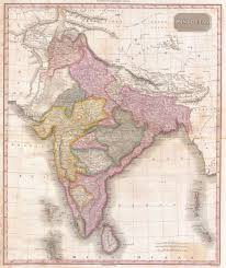 Nepal Map World by File 1818 Pinkerton Map Of India Pakistan Afghanistan Tibet