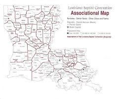 Maps Of Louisiana Louisiana Baptist Associational Map Of Louisiana