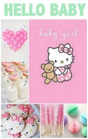 hello kitty baby shower linen lace love