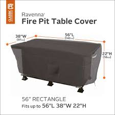 fire table cover rectangle ravenna fire pit table cover 56 in rectangular