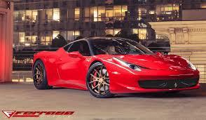 replica ferrari 458 italia 20 inch ferrada fr2 bronze wheels on 2011 ferrari 458 italia w