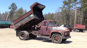 Ford Vintage Truck - 1955 antique ford f700 dump truck youtube