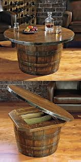 whiskey barrel side table pin by jodi shaddy faulkner on diy ideas pinterest unique coffee