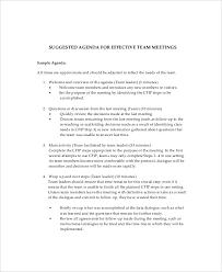 10 team meeting agenda templates u2013 free sample example format