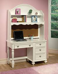 simple kids desk with hutch in ideal place home decor inspirations