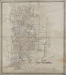 pasadena ca map map of the city of pasadena barry ruderman antique maps