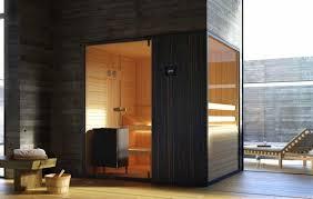 sauna glass doors sauna in wood and transparent glass for swimming pool idfdesign